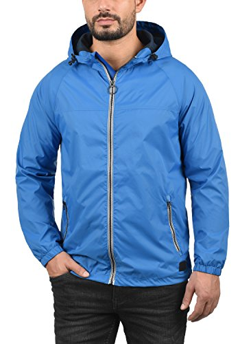 Blend Nevi Herren Windbreaker Regenjacke Übergangsjacke Mit Kapuze, Größe:S, Farbe:Nautical Blue (74632) - 2