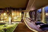 Doppel-Hängeliege Querlattung aus Holz, für den Garten und Innenbereich, Saunaliege, Sonnenliege, Relaxliege, Gartenliege, Schwebeliege, Doppelliege