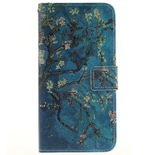 Voguecase® Pour IPhone SE Coque, Etui Housse Cuir Portefeuille Case Cover (papillon coloré 07)de Gratuit stylet l'écran aléatoire universelle Fleur d'aquarelles