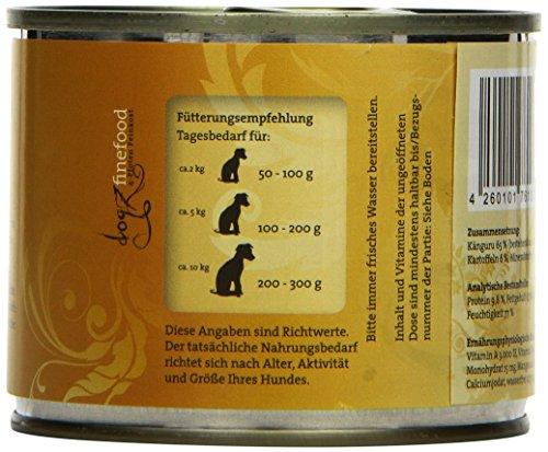 Dogz finefood Hundefutter No.6 Känguru 200g, 6er Pack (6 x 200 g) - 3