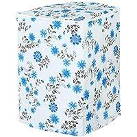 Vosarea Funda para Lavadora Carga Arriba Lavadoras Secadoras Impermeable 54x 54x 82cm (diseño de Flores), Color Azul
