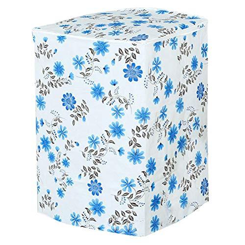 Vosarea coprilavatrice verticale impermeabile con cerniera anti-spruzzi e anti sunlight (motivo a fiori blu)