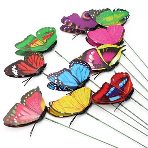 VORCOOL 10 Stück Deko Schmetterlinge Bunte Gartendeko