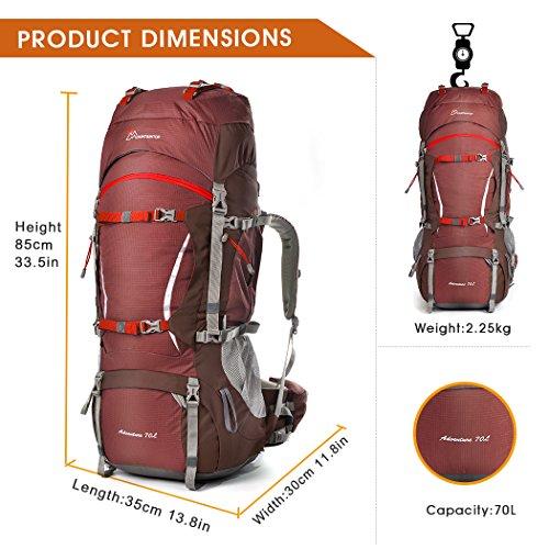 Imagen de mountaintop 70l+10l  trekking/  de viaje/ de marcha/ impermeable / para deporte aire libre 5805iii alternativa