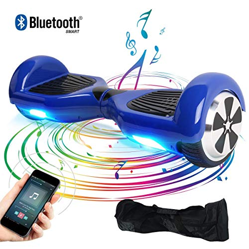 "Windgoo Hoverboard 6.5"" Bluetooth Balance Board Patinete Eléctrico Scooter Talla LED 350W*2 (BL-Azul)"