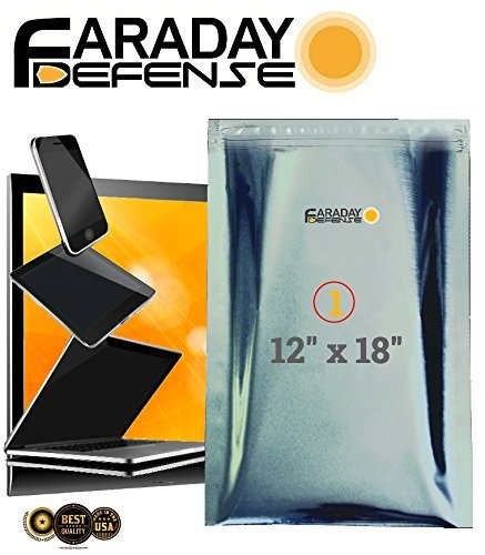 Jaula de Faraday Emp/ESD bolsas Premium 1pieza grueso y pesado deber Nesting bolsa XL Laptop/Notebook iPad Windows W/1Jumbo Bolsa