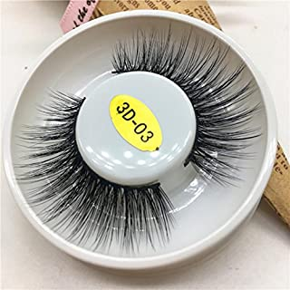 IGEMY 1 Pair Luxury 3D False Lashes Fluffy Strip Eye Lashes Nautral Party (C)
