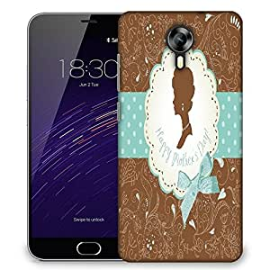 Snoogg mothers day card cute vintage frames with ladies silhouettes Designer Protective Back Case Cover For Meizu M2