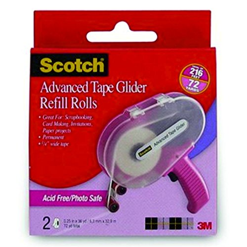 scotch-tape-glider-refill-rolls-box-of-2-acid-free-adhesive-transfer-tape-1-4-in-pack-of-3-