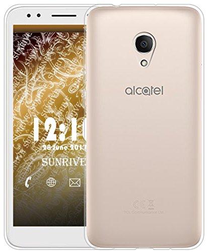 Sunrive Für Alcatel 1X Hülle Silikon, Transparent Handyhülle Schutzhülle Etui Case für Alcatel 1X 5059D(TPU Kein Bild)+Gratis Universal Eingabestift