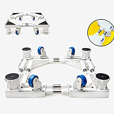 QFFL tray Double Row Wheel Stainless Steel Base Bracket / Washing Machine Heighten Base / Moveable Appliances Bracket Electric dedicated base by huifang Washing machine chassis