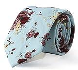 #10: TiedRibbons® May Lucky Narrow Tie Men's Cotton Neck Tie Floral Ties Casual Neckties