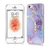 iPhone 5S Coque Housses Etuis Silicone Clair Marble Téléphones Protection pour...