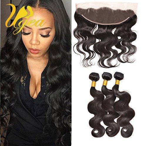 Ugeat Tete-pleins Extension de Cheveux Humains Tissage Bresiliens 14,16,18 Pouces avec 1pc 13\\