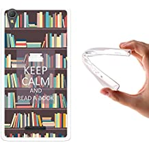 Funda Sony Xperia T3, WoowCase [ Sony Xperia T3 ] Funda Silicona Gel Flexible Keep Calm and Read a Book, Carcasa Case TPU Silicona
