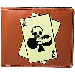 Shagwear - Monederos para mujeres jóvenes: Varios colores y diseños: (Cráneo poker / Skull poker)