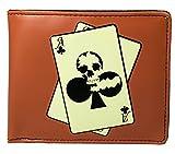 Shagwear Herren Geldbörse, Mens Wallet Designs: (Black Jack,Rot/Skull Poker)