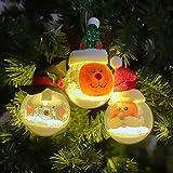 EdBerk74 Christmas Luminous Ornament Balls Schaumpartikel Lichtkugel Christbaumschmuck Holiday Party Supplies