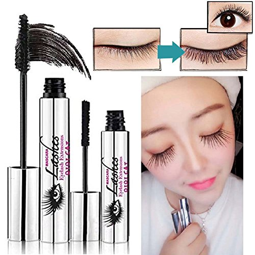 BOBORA 4D Mascara Creme Make-up Wimpern Wasserdicht Mascara Eye Schwarz Wimpernverlängerung Faser...