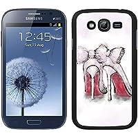 Funda carcasa TPU (Gel) para Samsung Galaxy Grand NEO Plus diseño zapatos de tacón borde negro