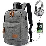 Myhozee Wasserdicht Laptop Rucksack Herren Schulrucksack Jugendliche Schultaschen mit USB Anschluss für 12-15.6 Zoll-Jungen Backpack Teenager Daypack Freizeitrucksack
