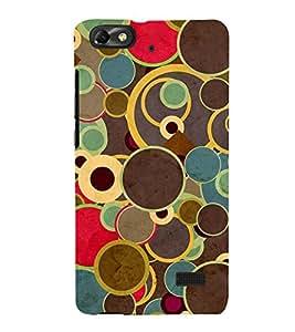 Printvisa Multi Coloured Circulare Pattern 3D Hard Polycarbonate Designer Back Case Cover For Huawei Honor 4C :: Huawei G Play Mini