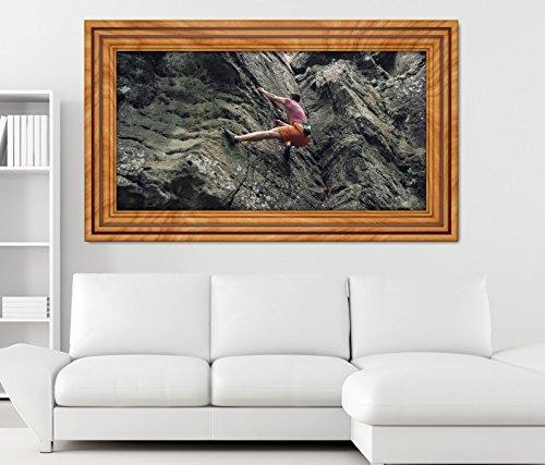3D Wandtattoo Freeclimbing Felsen Klettern Extrem selbstklebend Wandbild Tattoo Wohnzimmer Wand Aufkleber 11M811, Wandbild Größe F:ca. 162cmx97cm