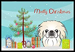 Carolines Treasures BB1593MAT Christmas Tree and Pekingese Indoor or Outdoor Mat, 18 x 27, Multicolor