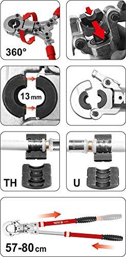 Rohrpresszange Presszange Verbundrohr Pex-Al-Pex Aluverbund-Rohre 16 - 32 mm