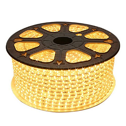 viktion – 220 V 15 m SMD 5050 LED Band Strip 900 LEDs Beleuchtung wasserdicht waterproof – Verwenden direkt nicht brauchen DER Adapter, Warmweiß, 16 x 20 cm (Bucht-16 Hohe)