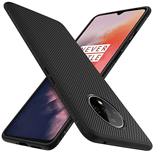 iBetter Coque pour Oneplus 7T, Housse Silicone Ultra Mince, Coque TPU, Durable, pour Oneplus 7T Smartphone.Noir