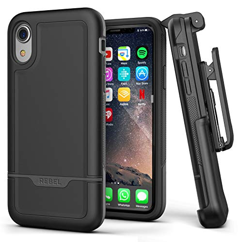 7caafe2b406 Encased Compatible with iPhone XR Belt Clip Holster Case, Heavy Duty  Protective Cover with Rugged