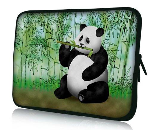 Luxburg® Design Laptoptasche Notebooktasche Sleeve für 17,3 Zoll (auch in 10,2 Zoll | 12,1 Zoll | 13,3 Zoll | 14,2 Zoll | 15,6 Zoll | 17,3 Zoll) , Motiv: Pandabär