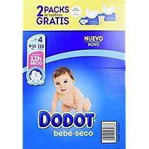 Dodot - Pack de Pañales Dodot, 124 unidades + 2 Packs de Toallitas, 9