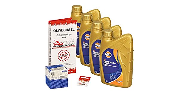 Gulf 10w 40 Öl Mahle Ölfilter Für Honda Cb 1100 Ex 13 15 Sc65 Ölwechselset Inkl Motoröl Filter Dichtring Auto