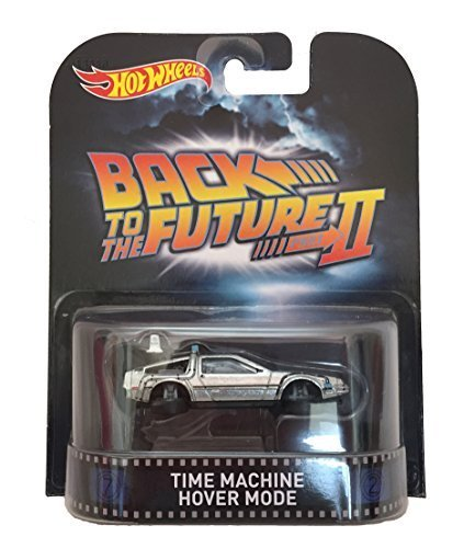 Time Machine Hover Mode Back To The Future Part II Hot Wheels 2015 Retro Series 1/64 Die Cast Vehicle by Hot Wheels