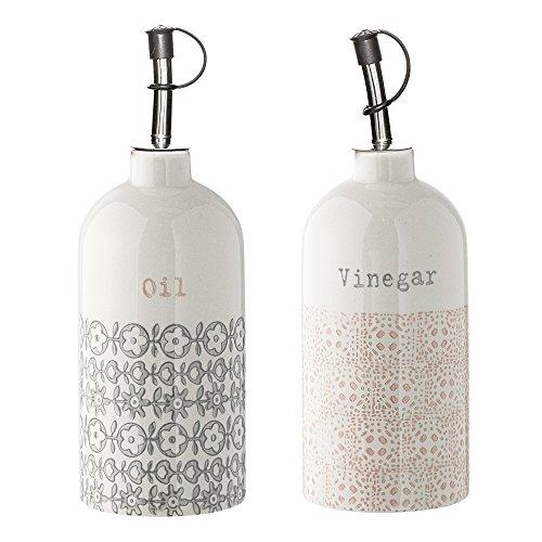 Bloomingville Flaschen für Essig & Öl Cécile 2er Set