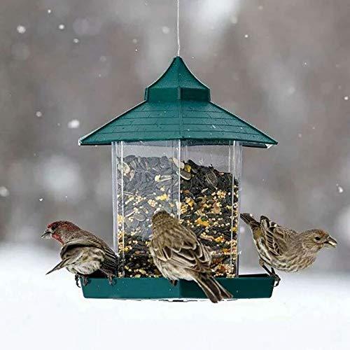 OurLeeme Mangiatoia per Uccelli Lanterna appesa Mangiatoia per Uccelli Mangiatoia per Giardino Mangiatoia per la Protezione dalle intemperie per la