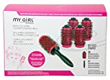 ESSEX Girl Beauty New Pink Rolle und Click Lockenwickler Curl Essex Blow Dry Pinsel in einer Box, Medium