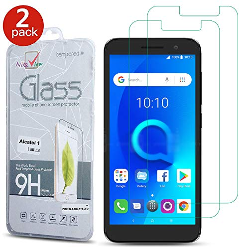 [2 Pack] Alcatel 1 5033X Phone Screen Protector, Gorilla Tempered Glass  Screen Protector Shockproof Protective LCD Film Guard [9H Hardness]