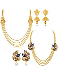 Sukkhi Jewellery Sets for Women (Golden) (410CB1950)