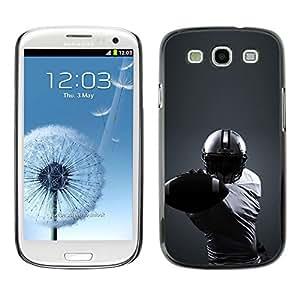 YiPhone /// Premium Schlank Snap-Fall-Abdeckung Shell Rüstung Schutzhülle - Minimalistische Fußballspieler - Samsung Galaxy S3