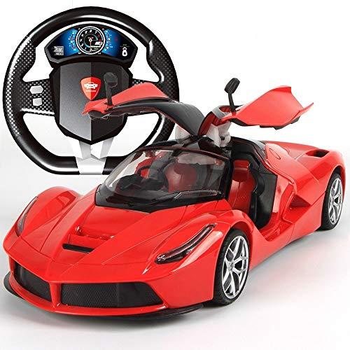 Markc Super große Fernbedienung Auto kann die Tür Lenkrad Lade Dynamische Fernsteuerungsauto- Schwerkraftabfragung Fernbedienung Sports Car Modell Laufen Junge Kinder Spielzeug Öffnen -
