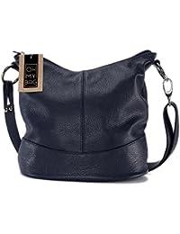 OH MY BAG Sac à main femme en cuir porté bandoulière Modèle Beaubourg Nouvelle Collection