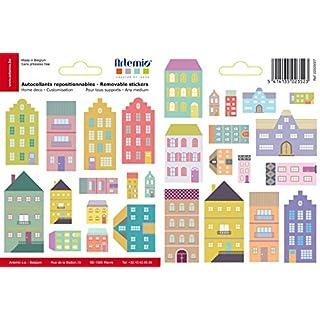 Artemio Houses Removable Transparent Stickers