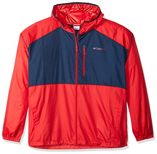 Columbia Men's Big and Tall Flash Forward Windbreaker, Mountain Red/Collegiate Navy, 1X