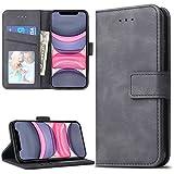 Lelogo iPhone 11 Hülle, Handyhülle Kompatibel für Apple iPhone 11 Lederhülle Handytasche Schutzhülle Tasche Flip Brieftasche Case [Premium PU Leder] mit Kreditkartenhaltern (Schwarz)