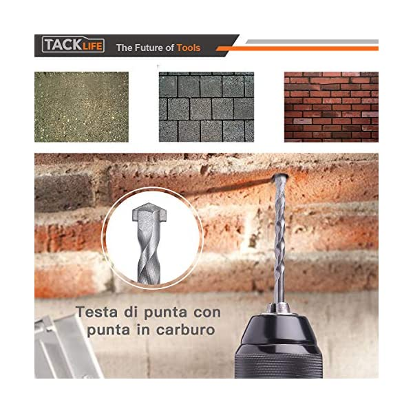 TACKLIFESet-Punte-per-TrapanoSet-per-Forare-ed-Avvitare50-PEZZISet-di-CacciavitiMetallo-Legno-PlasticaForatura-a-15mm-64mmCacciaviti-da-25mm-e-50mmHSSWD02