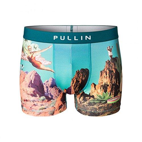 Pull-In Boxer-Shorts Elvis Blau-Weiß (Small , Blau) (Elvis Unterwäsche)