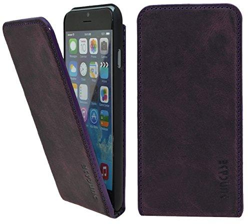 Suncase® * * en cuir véritable style livre en cuir pour le/iPhone 6/6S (4.7) et iPhone 6/6S Plus (5,5pouces) Flip Antik-Lila